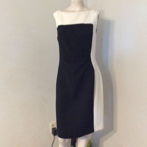 Kay Unger Two Tone Sheath Dress 12 NWT